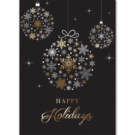 Silver & Gold Foil Ornament