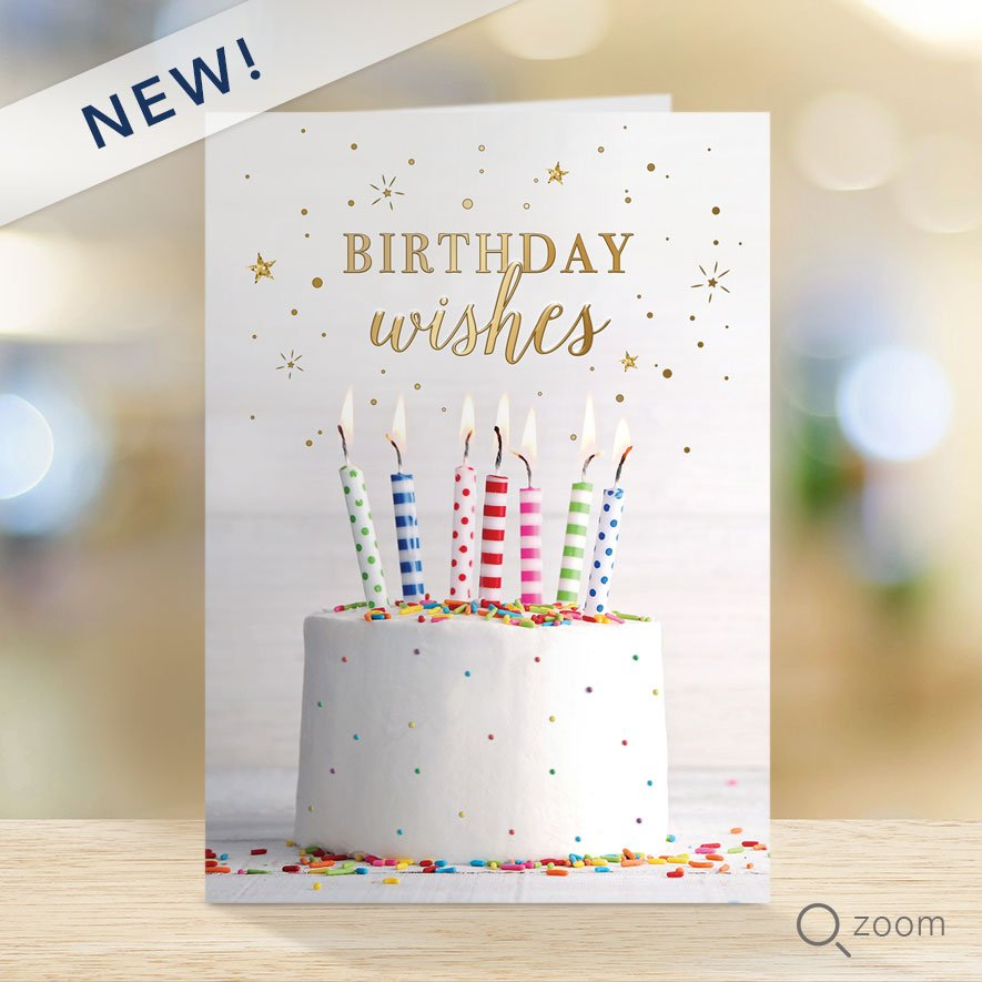 Frosted Cake Birthday Wishes Card Wall Street Greetings Cards For